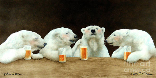 Painting - Polar Beers by Will Bullas