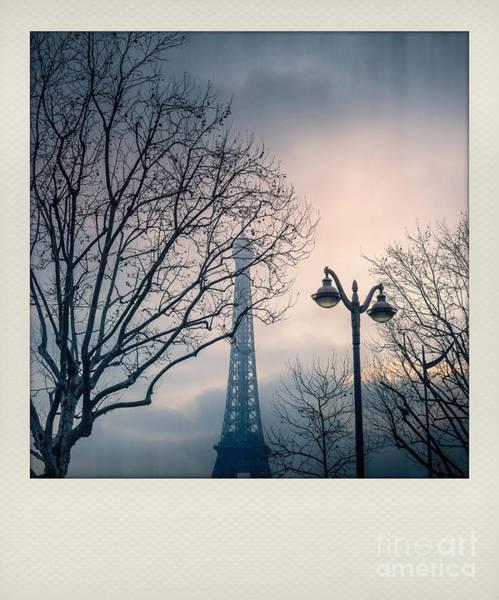 Wall Art - Photograph - Polaroid Effect, Eiffel Tower, Paris by Bernard Jaubert
