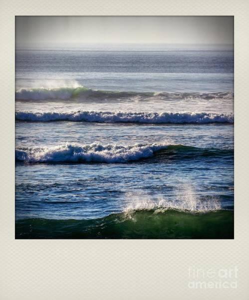 Wall Art - Photograph - Polaroid Effect Of Waves by Bernard Jaubert