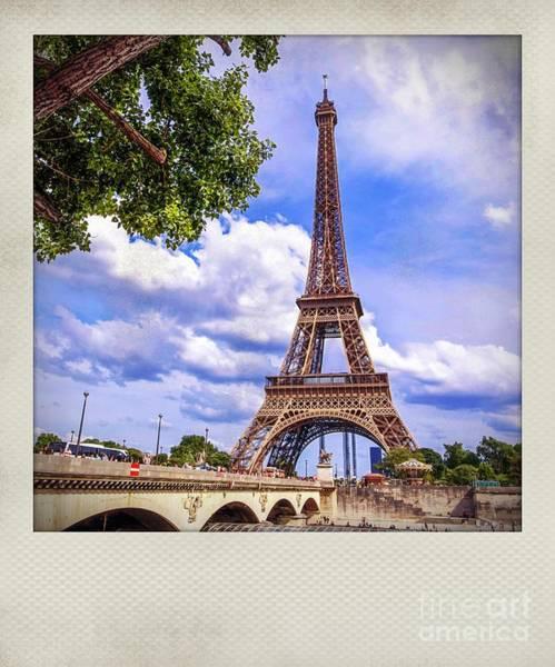 Wall Art - Photograph - Polaroid Effect On Eiffeltower, Paris by Bernard Jaubert