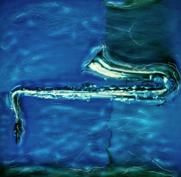 Bleached Photograph - Polaroid Transfer Of Saxophone by Claire Rydell