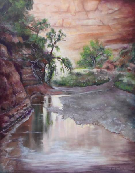Wall Art - Painting - Pole Canyon Creek by Karen Kennedy Chatham