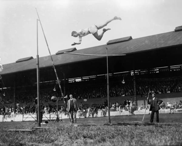 Stamford Photograph - Pole Vault by London Express