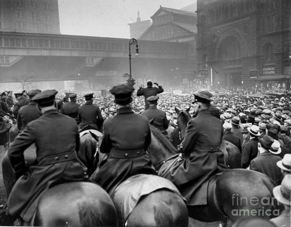 Wall Art - Photograph - Police On Horseback Quell A Communist by New York Daily News Archive