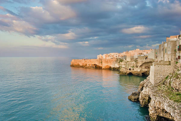 Sunlight Photograph - Polignano A Mare On The Adriatic Sea by David Madison