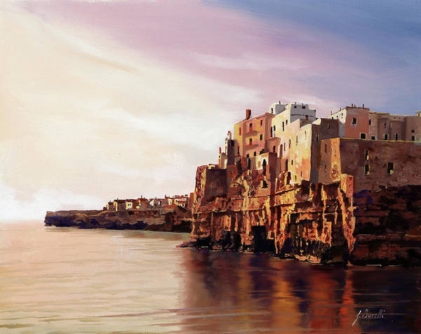 Vacations Wall Art - Painting - Polignano by Guido Borelli