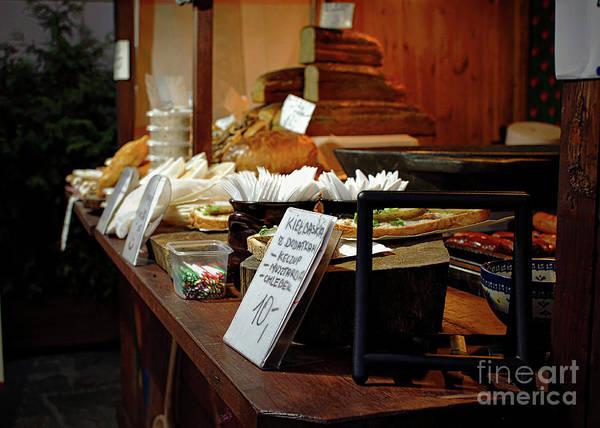 Delicatessen Photograph - Polish Market Stall by Tom Gowanlock