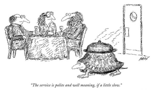Drawing - Polite And Well Meaning by Edward Koren