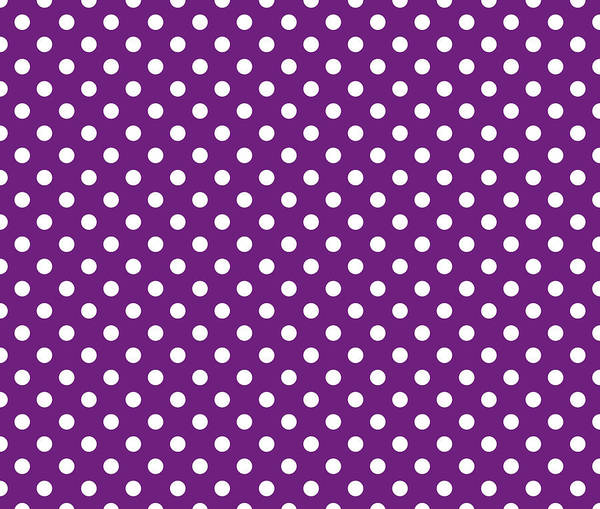 Spots Digital Art - Polka Diot White On Purple by Filip Hellman