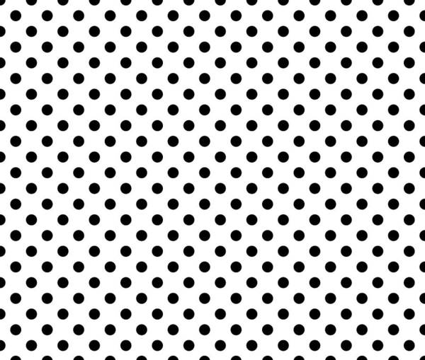 Spots Digital Art - Polka Dot Black On White by Filip Hellman