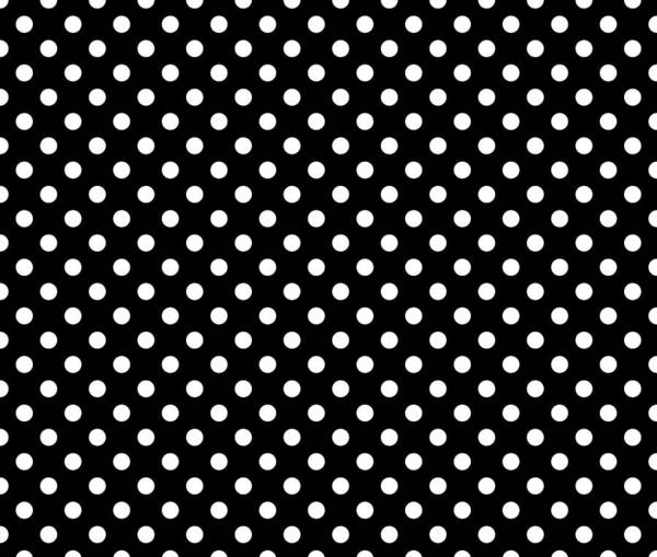Spots Digital Art - Polka Dot White On Black by Filip Hellman