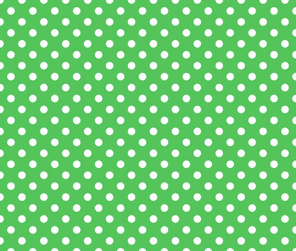 Spots Digital Art - Polka Dot White On Green by Filip Hellman
