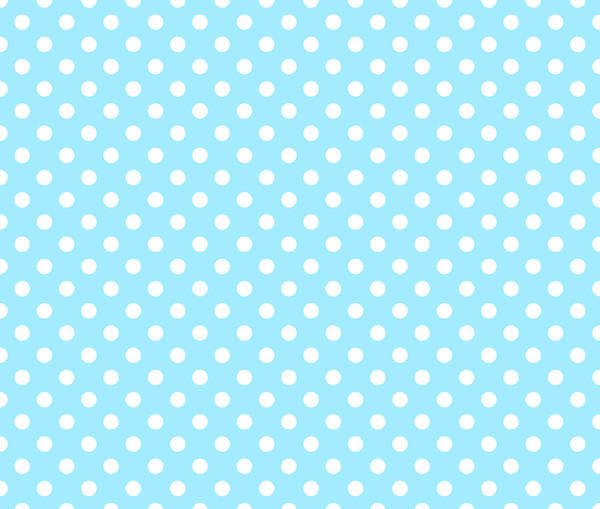 Spots Digital Art - Polka Dot White On Light Blue by Filip Hellman