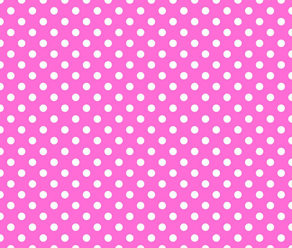Wall Art - Digital Art - Polka Dot White On Pink by Filip Hellman