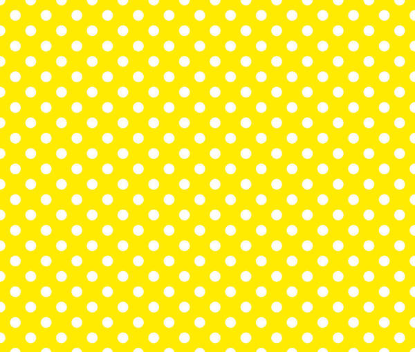 Wall Art - Digital Art - Polka Dot Yellow On White by Filip Hellman
