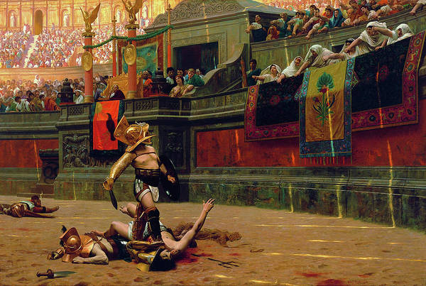 Wall Art - Painting - Pollice Verso - Digital Remastered Edition by Jean-Leon Gerome
