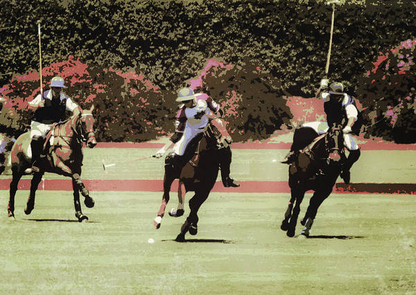 Wall Art - Digital Art - Polo Action Poster by Gaby Ethington