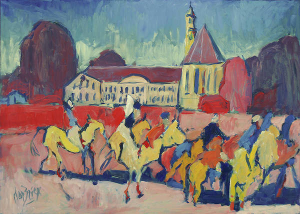 Painting - Polo At Sint Gerlach by Nop Briex