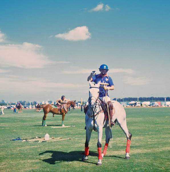 Domestic Animals Photograph - Polo In Florida by Slim Aarons