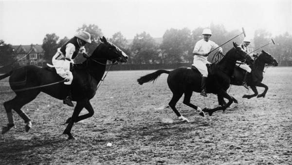 Statesman Wall Art - Photograph - Polo-playing Churchill by Hulton Archive