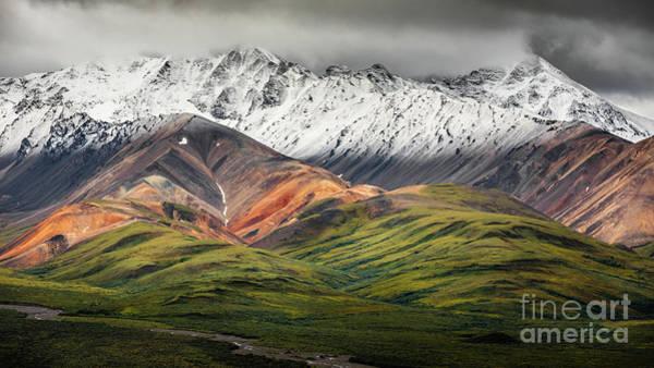 Photograph - Polychrome Mountain, Denali Np, Alaska by Lyl Dil Creations