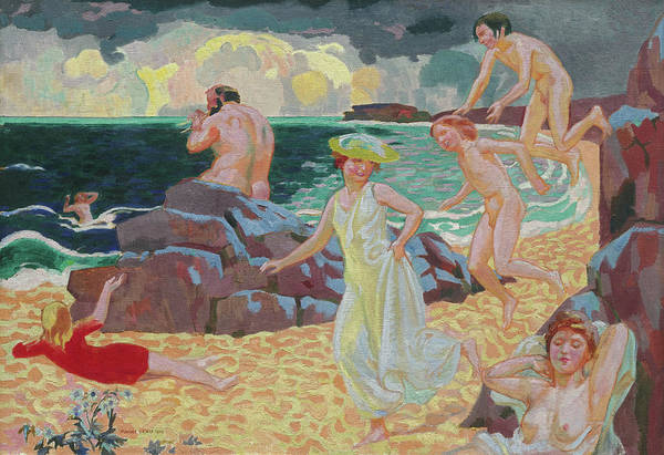 The Clash Wall Art - Painting - Polyphemus, 1907 by Maurice Denis