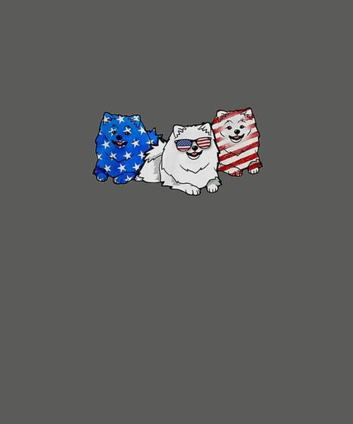 Wall Art - Digital Art - Pomeranian Smile Flag American T-shirt Independence 4th Of  T-shirt by Unique Tees