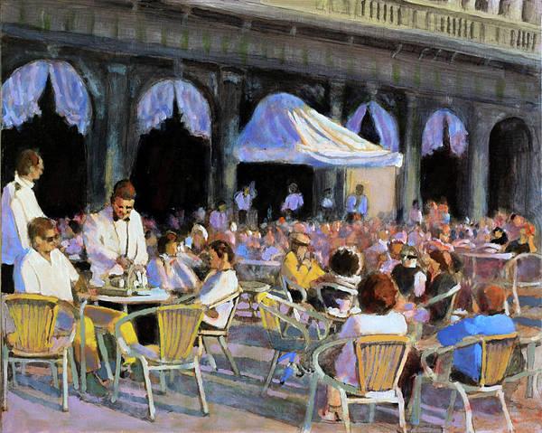 Dining Al Fresco Painting - Pomeriggio Al Kaffe Florian by David Zimmerman