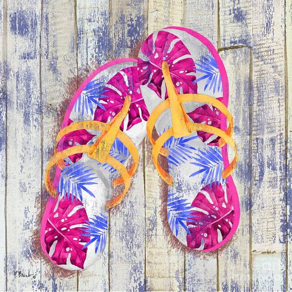 Wall Art - Painting - Pompano Sandals II by Paul Brent