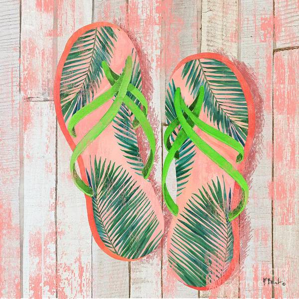 Wall Art - Painting - Pompano Sandals IIi by Paul Brent