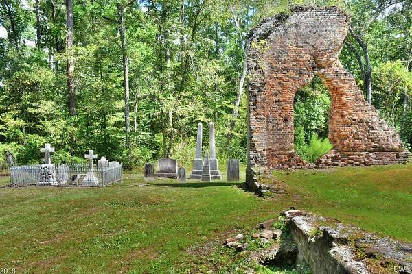 Photograph - Pon Pon Chapel Of Ease And Cemetery Jacksonboro South Carolina by Lisa Wooten