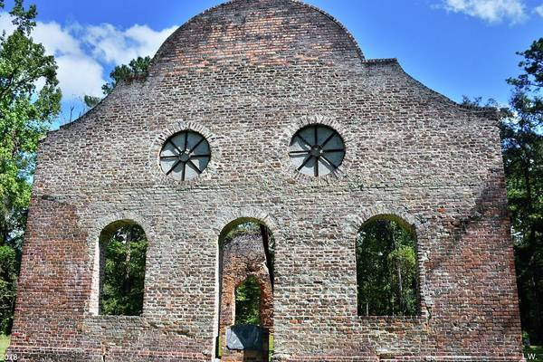 Photograph - Pon Pon Chapel Of Ease Jacksonboro South Carolina 3 by Lisa Wooten