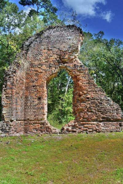 Photograph - Pon Pon Chapel Of Ease Ruins Jacksonboro South Carolina by Lisa Wooten