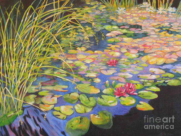 Wall Art - Painting - Pond 3 Pond Series by Sharon Nelson-Bianco