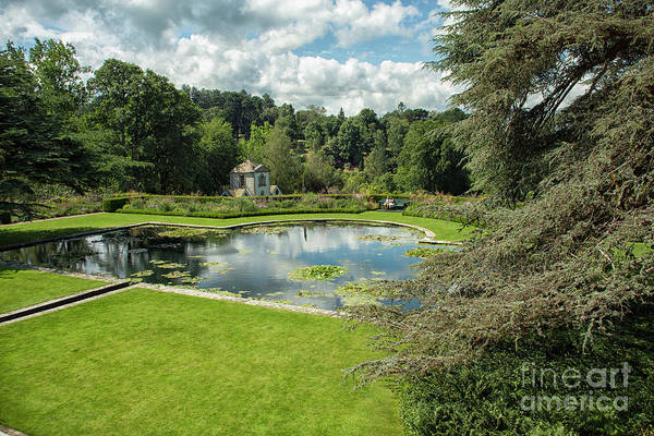 Wall Art - Photograph - Pond At Bodnant Gardens In Wales by Patricia Hofmeester
