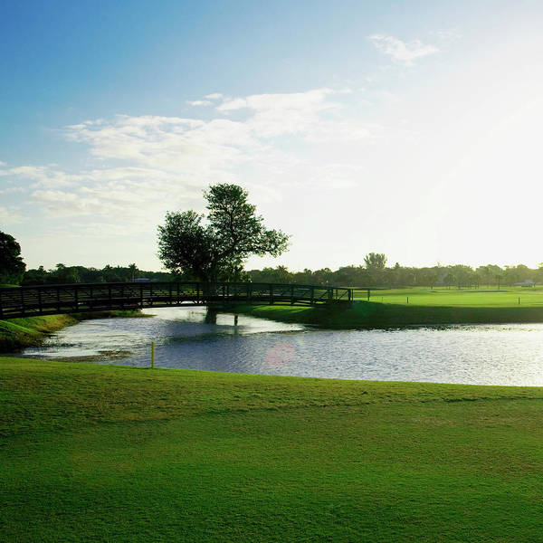 Golf Course Photograph - Pond In A Golf Course,biltmore Golf by Glow Images, Inc