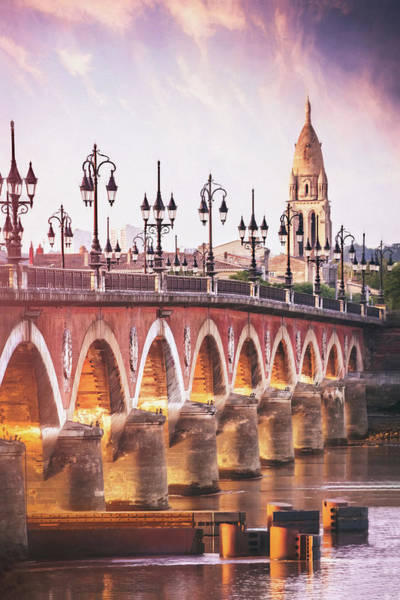 Wall Art - Photograph - Pont De Pierre Bordeaux France  by Carol Japp