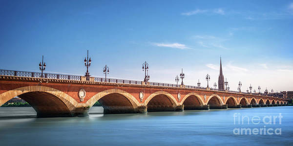 Wall Art - Photograph - Pont De Pierre In Bordeaux by Delphimages Photo Creations
