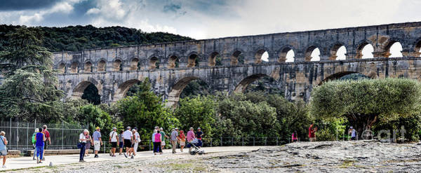 Photograph - Pont Du Gard Aqueduct  A Unesco World Heritage Site by Thomas Marchessault