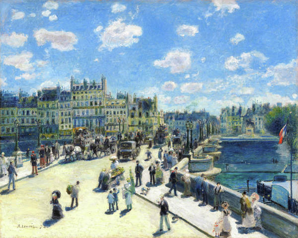 Wall Art - Painting - Pont Neuf, Paris - Digital Remastered Edition by Pierre-Auguste Renoir