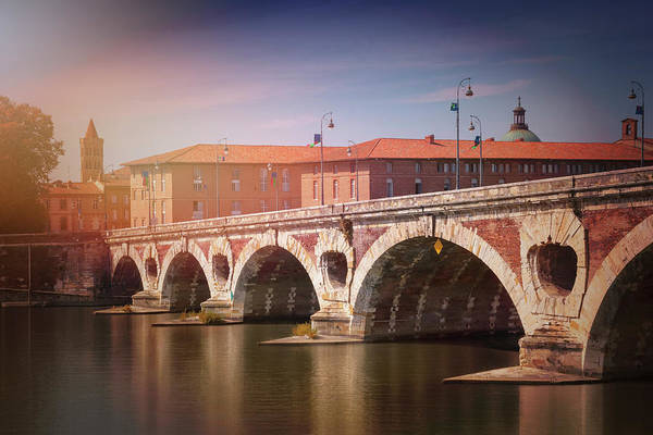 South Of France Wall Art - Photograph - Pont Neuf Toulouse France  by Carol Japp