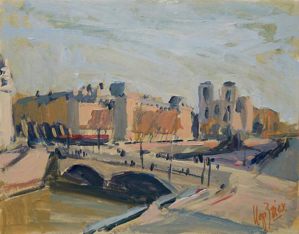 Painting - Pont Saint Michel Et Notre Dame by Nop Briex