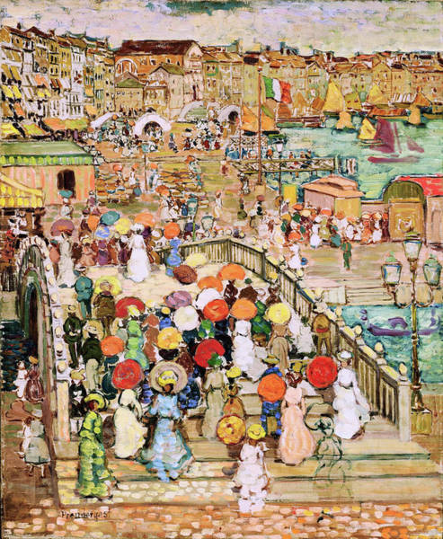 Wall Art - Painting - Ponte Della Paglia - Digital Remastered Edition by Maurice Brazil Prendergast