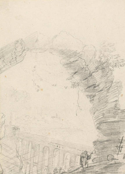 Drawing - Ponte Delle Torri, Seen Through An Arch by Richard Wilson