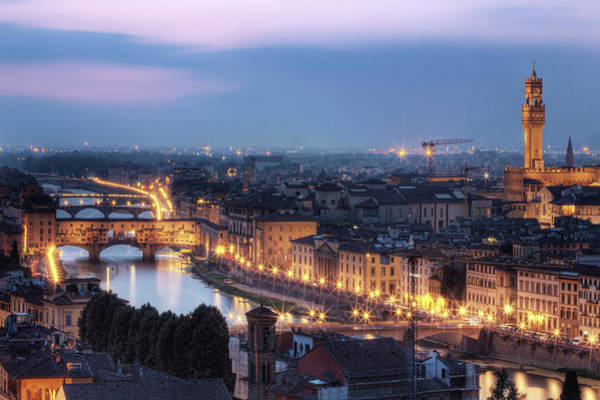Wall Art - Photograph - Ponte Vecchio & River Arno, Florence by Artie Photography (artie Ng)