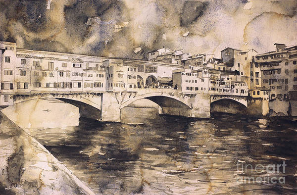 Wall Art - Painting - Ponte Vecchio- Florence by Ryan Fox