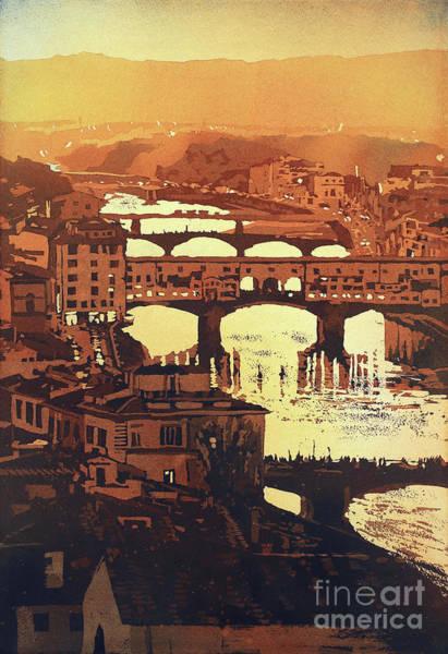 Wall Art - Painting - Ponte Vecchio Sunset- Italy by Ryan Fox