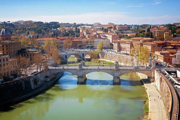 Photograph - Ponte Vittorio Emaneule II Rome Italy by Joan Carroll