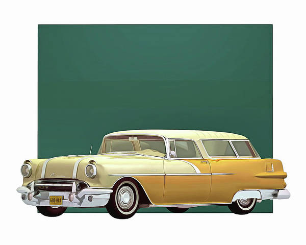 Digital Art - Pontiac Safari Station Wagon 1956 by Jan Keteleer