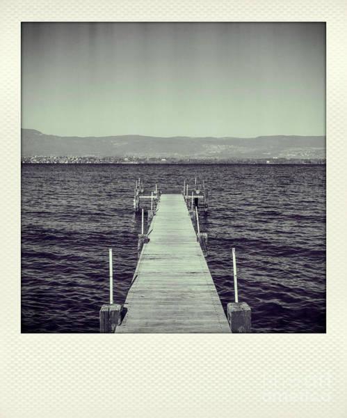 Wall Art - Photograph - Pontoon On Lake Geneva. Nernier Harbour. Haute Savoie. France by Bernard Jaubert